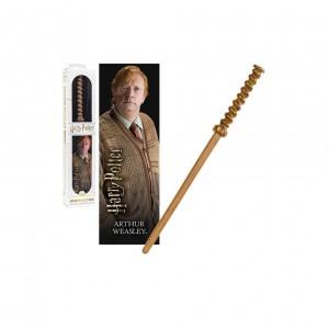 Bagheta Harry Potter - Arthur Weasley 30cm Originala + Semn de carte NN6327 Harry potter Baghete Harry Potter