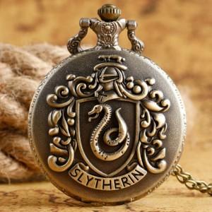 Lantisor Cu Pandantiv Ceas Harry Potter Slytherin med505 Harry Potter Ceasuri
