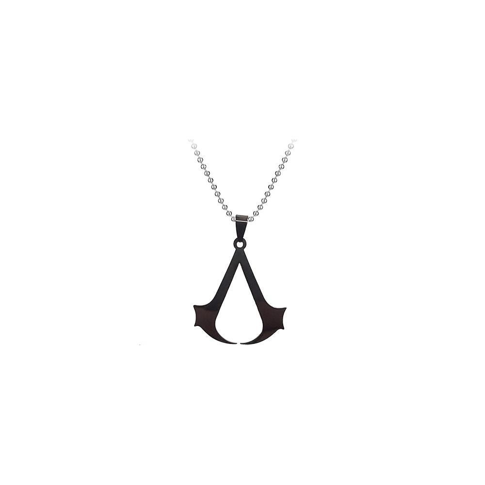 Lantisor Cu Pandantiv Assassin's Creed M2 Inox , Negru med806 Assassin's Creed Diverse Medalioane