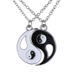Set Medalioane Lantisoare BFF Best Friend Friends Yin Yang yy560 Best Friends Medalioane BFF