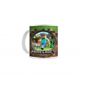 Cana Minecraft Steve , Wolf & Creeper , 330ml mug55 Minecraft Cani