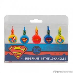 Lumanari aniversare pentru tort Superman Set 10 Buc CR4220 Superman Lumanari