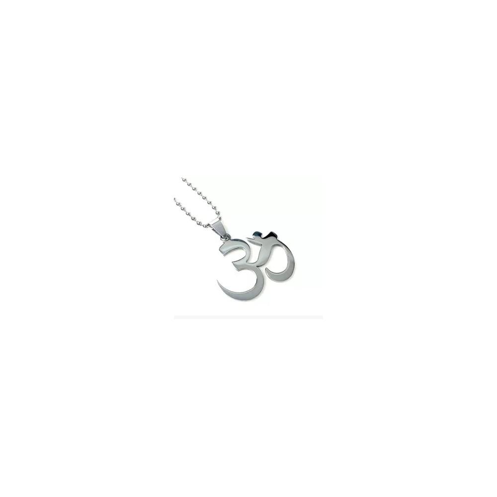 Lantisor Cu Pandantiv Aum Mantra OM , Inox , Argintiu med97 Zumzeria Diverse
