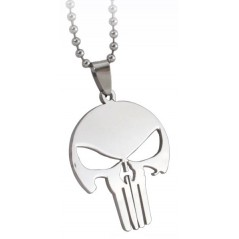 Lantisor Cu Pandantiv The Punisher Skull , Inox , zum0001 zum0001 The Punisher Diverse