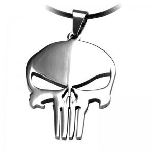 Lantisor Cu Pandantiv The Punisher Skull , Inox , zum0002 zum0002 The Punisher Diverse
