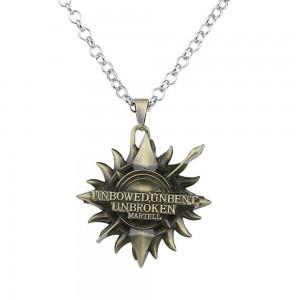 Medalion Lantisor Colier Game of Thrones Martell Bronze zum228 Medalioane