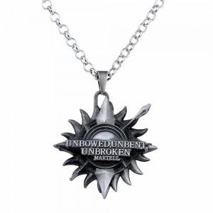 Medalion Lantisor Colier Game of Thrones Martell Silver zum227 Medalioane