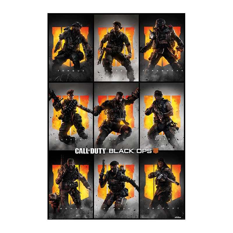 Poster Call of Duty Black Ops 4 Characters , 61x91.5cm