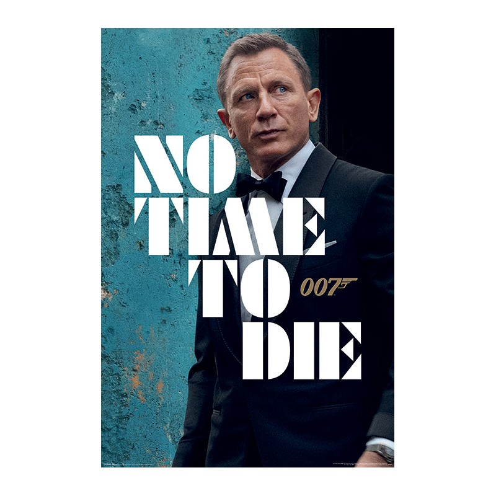 Poster James Bond No Time To Die - Azure Teaser , 61x91.5cm