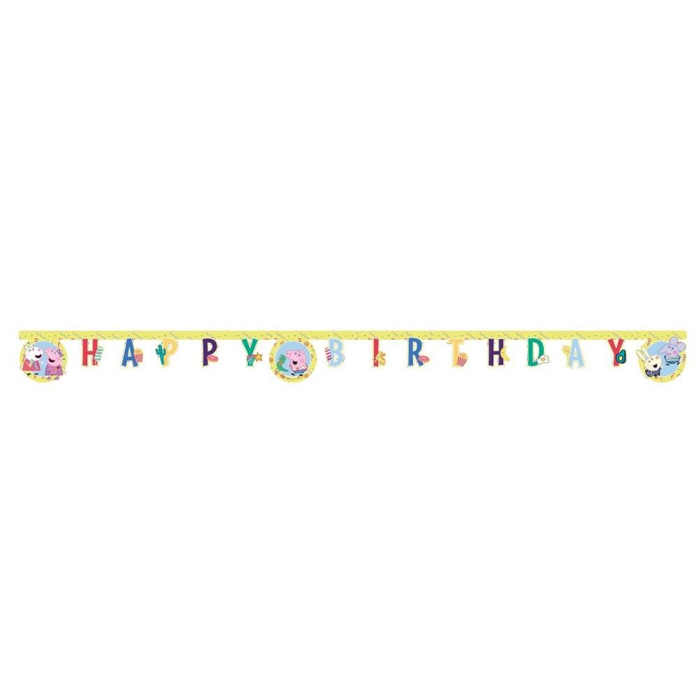 Banner Peppa Pig , Happy Birthday V2 , 3.3m
