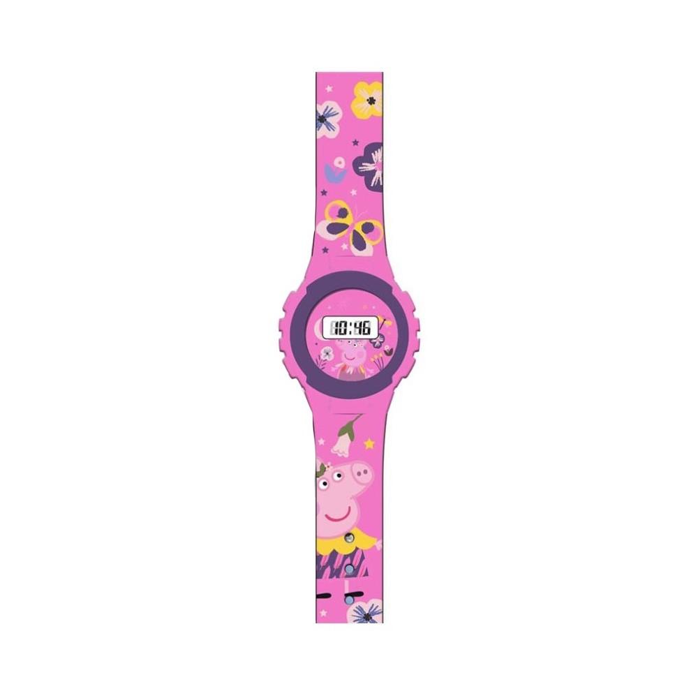 Ceas Peppa Pig Pentru Copii Digital , Roz