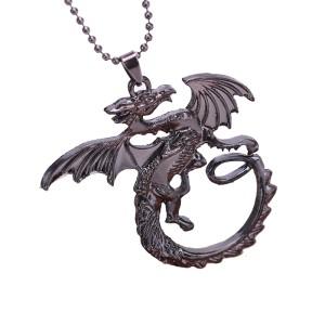 Pandantiv Medalion Lantisor Targaryen , Game Of Thrones Dragon Daenerys Targaryen zum207 Medalioane