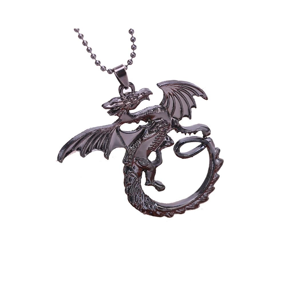 Lantisor Cu Pandantiv Game Of Thrones Dragon Daenerys Targaryen , zum207 zum207 Game of Thrones Diverse Medalioane