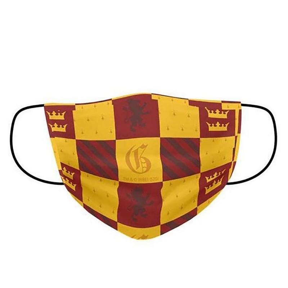 Masca De Protectie Faciala Harry Potter Gryffindor House, Poliester , 2 Straturi Pentru Copii